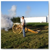 Firing Hope Cannon, 50in Wood Cannon Wheels